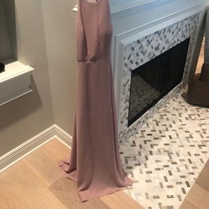 Maxi dress with slit and cross back